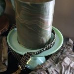 camo marble double barrel cake