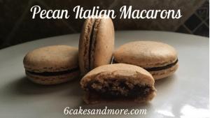 pecan italian macarons