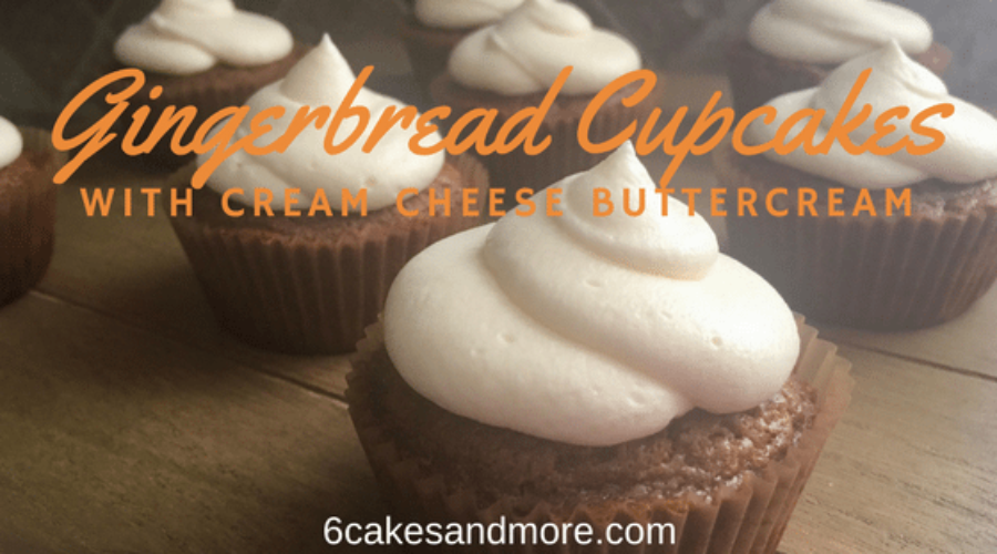 Gingerbread Cupcakes with Cream Cheese Buttercream