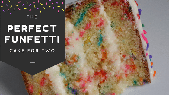 Perfect Funfetti Cake for Two