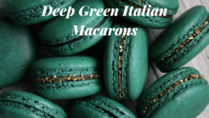 Deep Green Italian Macarons