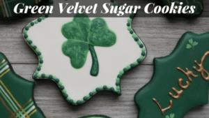 Green Velvet Sugar Cookies