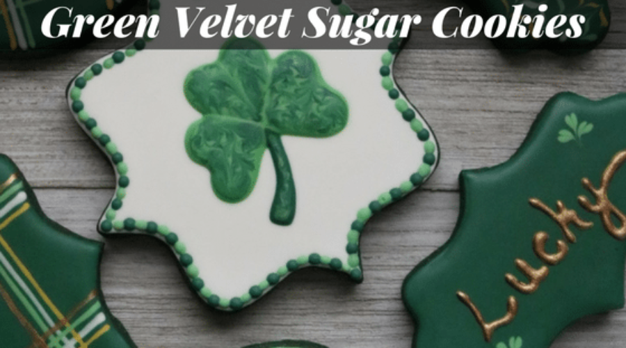 Green Velvet Sugar Cookies