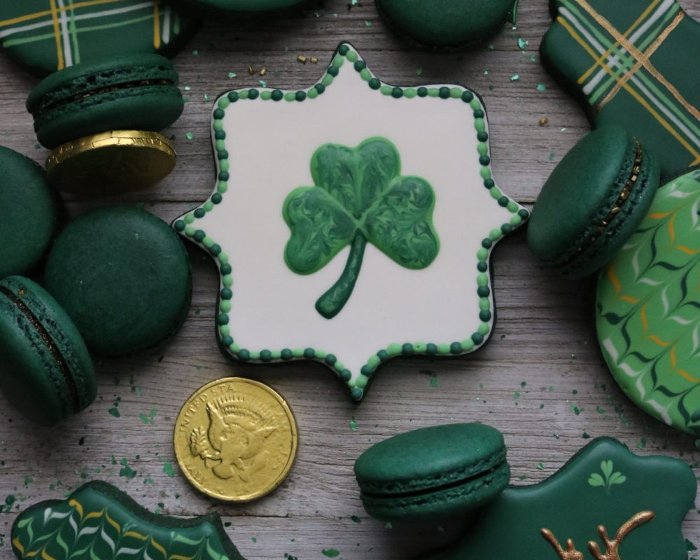Green Velvet Sugar Cookies and Macarons for St. Patrick's Day