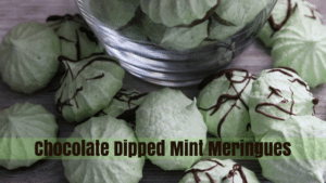 chocolate dipped mint meringues