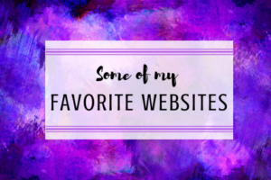 Some of my favorite websites