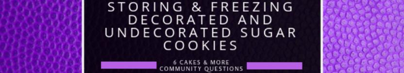 Storing & Freezing Sugar Cookies