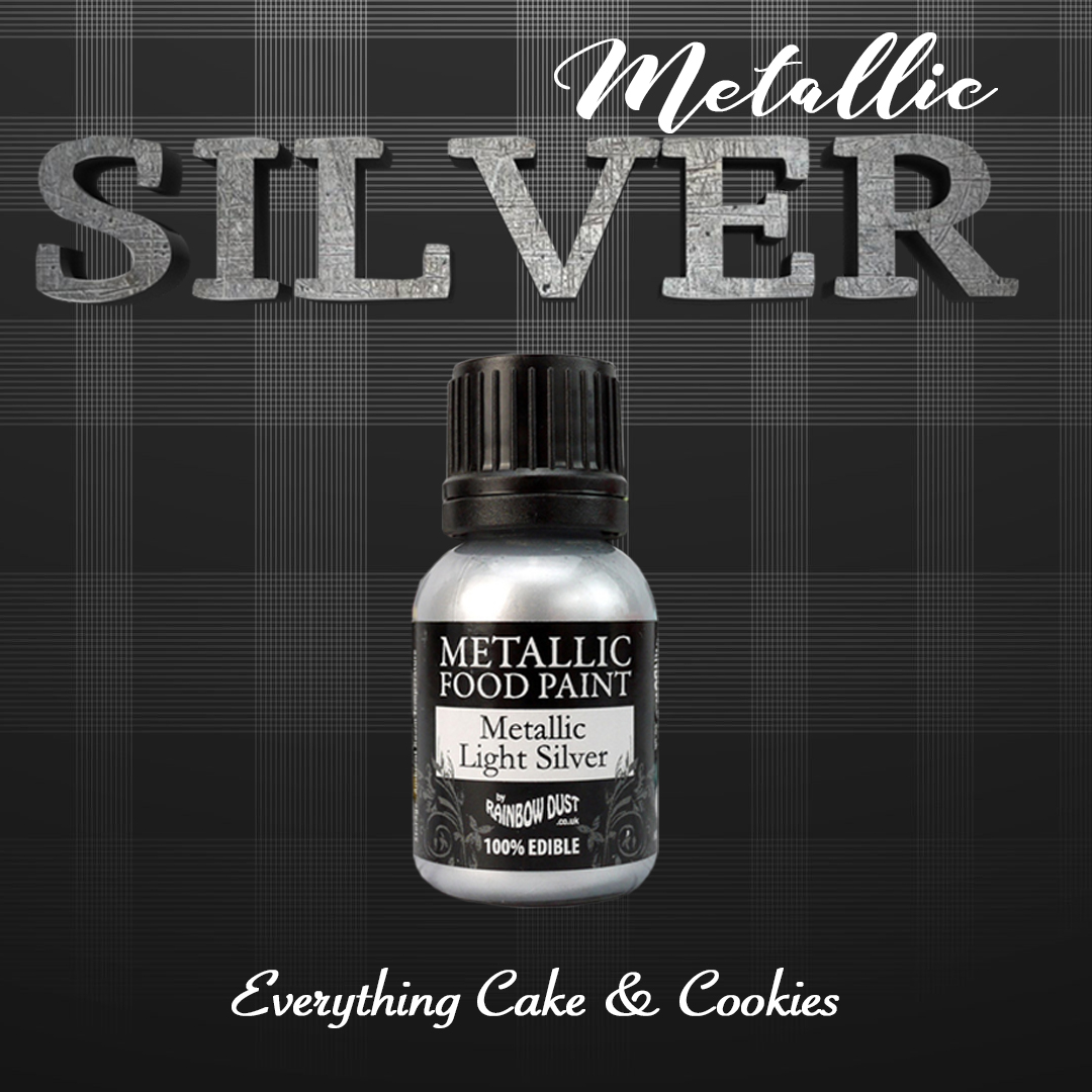 silver metallic paint for sugar cookies
